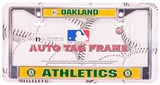 Rico Tag Oakland Athletics Domed Chrome Licensed Plate Frame
