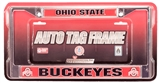 Rico Tag Ohio State Buckeyes Domed Chrome Licensed Plate Frame