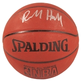 Richard Hamilton Autographed Detroit Pistons I/O Spalding Basketball (Press Pass)