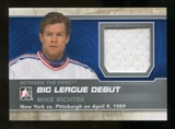 2012/13 In the Game Between The Pipes Big League Debut Jerseys Silver #BL13 Mike Richter* /100