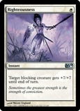 Magic the Gathering 2010 Single Righteousness UNPLAYED (NM/MT) 4x Lot