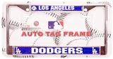 Rico Tag Los Angeles Dodgers Domed Chrome Licensed Plate Frame