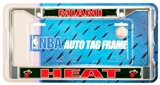 Rico Tag Miami Heat Domed Chrome Licensed Plate Frame