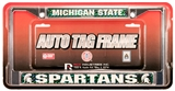Rico Tag Michigan State Spartans Domed Chrome Licensed Plate Frame