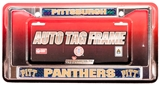 Rico Tag Pittsburgh Panthers Domed Chrome Licensed Plate Frame