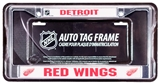 Rico Tag Detroit Red Wings Domed Chrome Licensed Plate Frame