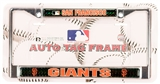 Rico Tag San Francisco Giants Domed Chrome Licensed Plate Frame