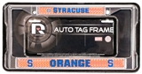 Syracuse Orangemen Domed Chrome Licensed Plate Frame - Regular Price $12.95 !!!