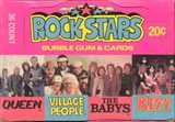 Rock Stars Wax Box (1979 Donruss)