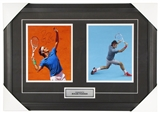Roger Federer Autographed Framed 8x10 Tennis Photo (Tennis Canada COA)