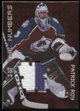 1999/00 BAP Millennium Jersey Numbers Patch #N23 Patrick Roy SP /30