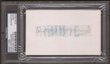 Rube Marquard Autograph (Index Card) PSA/DNA Certified *7904