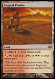 Magic the Gathering Eventide Single Rugged Prairie - MODERATE PLAY (MP)