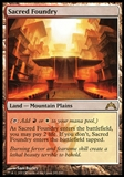 Magic the Gathering Gatecrash Single Sacred Foundry FOIL - MODERATE PLAY (MP)