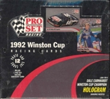 1992 Pro Set Winston Cup Racing Box