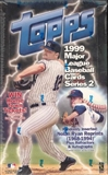 1999 Topps Series 2 Baseball 36 Pack Box
