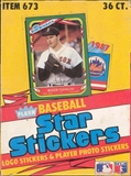 1987 Fleer Star Stickers Baseball Wax Box