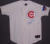Billy Williams Autographed Chicago Cubs White Baseball Jersey with HOF '87 (JSA)