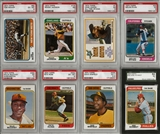 1974 Topps Baseball Complete Set With 8 Graded Cards (EX-MT+)