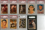 1957 Topps Baseball Complete Set With 9 Graded Cards (VG-EX)