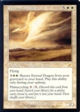 Magic the Gathering Scourge Single Eternal Dragon - MODERATE PLAY (MP)