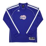 Los Angeles Clippers Adidas Blue On Court Shooter Long Sleeve Performance Tee Shirt (Adult M)