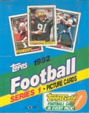 1992 Topps Series 1 Football Rack Box