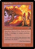 Magic the Gathering Nemesis Single Seal of Fire Foil