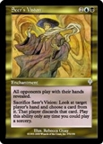Magic the Gathering Invasion Single Seer's Vision Foil