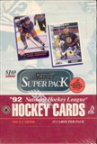 1992/93 Score Super Pack Hockey Jumbo Box