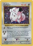 Pokemon Base Set 1 Single Clefairy 5/102 - SHADOWLESS HEAVY PLAY (HP)