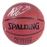 Shaquille O'Neal Autographed Los Angeles Lakers Spalding Basketball (JSA & Schwartz)