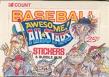 Baseball Awesome All-Stars Wax Box (1988 Donruss)