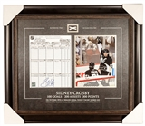 Sidney Crosby Autographed Pittsburgh Penguins NHL Score Sheet w/Game Net (Frameworth)