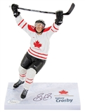 Sidney Crosby Autographed Team Canada (White Jersey) 2010 McFarlane Figure (JSA)