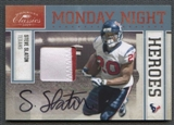 2009 Donruss Classics Football Steve Slaton Patch Auto #07/10