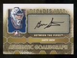 2012/13 In the Game Between The Pipes Autographs #AGSN Garth Snow DEC Autograph