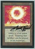 Magic the Gathering Beta Artist Proof Sol Ring - SIGNED BY MARK TEDIN