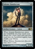 Magic the Gathering 2012 Single Solemn Simulacrum Foil