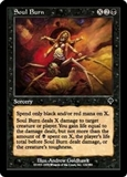 Magic the Gathering Invasion Single Soul Burn FOIL