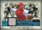 2008 Upper Deck SP Legendary Cuts Legendary Memorabilia Blue Parallel #CF Carlton Fisk /99
