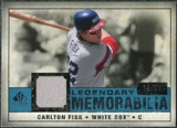 2008 Upper Deck SP Legendary Cuts Legendary Memorabilia Blue #CF2 Carton Fisk /99