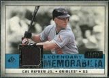 2008 Upper Deck SP Legendary Cuts Legendary Memorabilia Blue Parallel #CR2 Cal Ripken Jr. /99