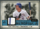 2008 Upper Deck SP Legendary Cuts Legendary Memorabilia Blue Parallel #PM Paul Molitor /99