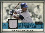2008 Upper Deck SP Legendary Cuts Legendary Memorabilia Blue Parallel #RI Jim Rice /99