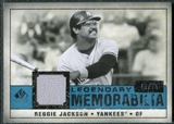 2008 Upper Deck SP Legendary Cuts Legendary Memorabilia Blue #RJ Reggie Jackson /75