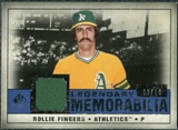 2008 Upper Deck SP Legendary Cuts Legendary Memorabilia Dark Blue #RF Rollie Fingers /10