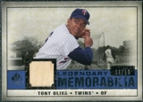 2008 Upper Deck SP Legendary Cuts Legendary Memorabilia Dark Blue Parallel #TO Tony Oliva /15