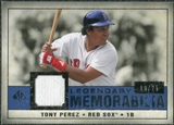 2008 Upper Deck SP Legendary Cuts Legendary Memorabilia Dark Blue #TP2 Tony Perez /25