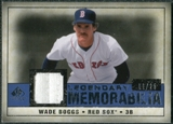 2008 Upper Deck SP Legendary Cuts Legendary Memorabilia Dark Blue Parallel #WB2 Wade Boggs /25